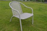 紫外線抵抗力がある屋外の灰色の単一の籐椅子およびオットマン
