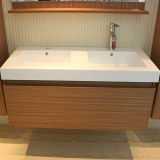 Gabinete de madeira recuperado da vaidade do banho da mobília de India da mobília