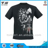 Camiseta impresa aduana de los hombres baratos de la textura del algodón de la manera