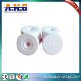 La etiqueta dura del disco del Hf RFID del ABS, Hf RFID marca el examen escribible del botón con etiqueta