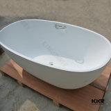 Ванна изготовленный на заказ размера твердая поверхностная крытая свободно стоящая (BT1706147)