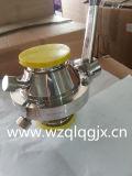 Robinet à tournant sphérique serré sanitaire de guindineau d'acier inoxydable