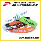 Bracelet pur en gros de silicones de couleur avec votre logo
