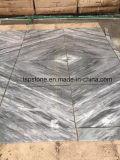 Tuile de marbre grise italienne de Carrare pour le projet