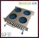 Evaporador aire acondicionado inoxidable del tubo de la refrigeración por agua del OEM con la aleta de aluminio