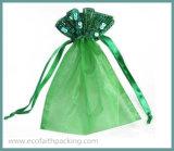 Sacchetto del Organza della Rosa per i sacchetti impaccanti di cerimonia nuziale del sacchetto del Organza del regalo