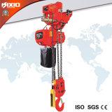 Alzamiento de cadena eléctrico de anzuelo del edificio industrial de Kixio 7.5ton