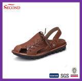 Кожаный верхние ботинки сандалии людей