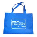 Bolsos de compras no tejidos reutilizables cómodos del verde (LJ-130)