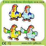 Libérer les cadeaux promotionnels personnalisés de PVC de réfrigérateur de coq respectueux de l'environnement d'aimants (RC-R08)