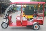 El triciclo eléctrico de la India fábrica de pasajeros
