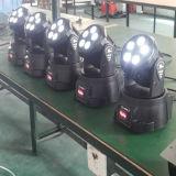 lumière mobile d'usager de la tête DEL de lavage de 6in1 Rgbawuv mini