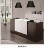 Самомоднейшее возникновение l стол приема офиса формы стеклянный верхний (SZ-RT034)
