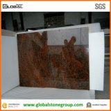 Natürliche rote Granit-Küche-Gegenmehrfarbenoberseiten in Wohn