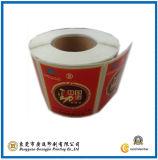 Etiquetas engomadas del papel de la marca de fábrica de la materia (GJ-Label008)