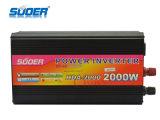 Inverseur d'énergie solaire de Suoer 2000W 12V 220V avec le chargeur (HAD-2000C)