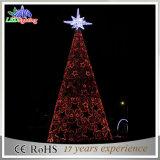 Alberi di Natale alti esterni illuminati annuncio pubblicitario esterno gigante del metallo della torretta