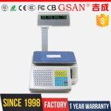Balanza electrónica de la escala 30kg de la impresión del código de barras de la cocina de la fruta