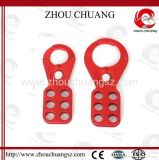 Sicherer roter haltbarer ökonomischer StahlHasp verwendet mit Sicherheits-Vorhängeschloß
