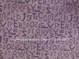 Pano de tabela largo da largura do projeto de letras do jacquard da qualidade do poliéster