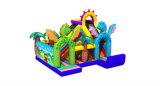 Glissière élevée de nouveau de la conception 2016 thème gonflable de Dino à vendre