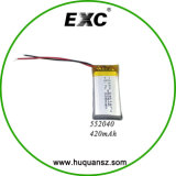 3.7V 420mAh 552040 Lipo Battery in Smart Size