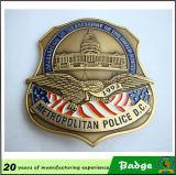 La police faite sur commande de pochette Badge l'insigne d'officier d'insigne de garantie