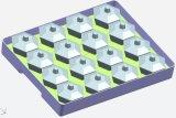 PP/PS de plastic Hexagonale Kop van de Kop 3.3 Oz met Vierkante Doos