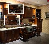 Gabinete de cozinha pequeno retro clássico de madeira contínuo da alta qualidade de N&L