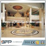 Modelo redondo del diseño de agua del medallón de mármol del jet para los azulejos de suelo