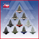 Music를 가진 휴일 Decorative Christmas Tree White Snow