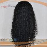 アフリカの巻き毛の長い人間のバージンの毛の完全なレースの前部女性のかつら