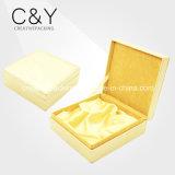 Коробка кожаный подарка PU золота упаковывая для дух