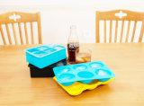 Kammern des Nahrungsmittelgrad-6 quadrieren Silikon-Eis-Würfel-Tellersegment für Küchenbedarf