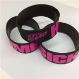 Personalizar Wristbands baratos originais impressos Dedossed do silicone