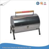 De kleine Grill van de Barbecue van de Houtskool van het Roestvrij staal van het Vat Draagbare
