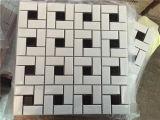 Мозаика косоугольника плитки мозаики плитки имитационной кожи керамическая штейновая