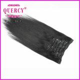 毛の拡張の安いクリップ、100%年バージンの毛、最上質クリップ毛の