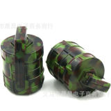 Moda Hot Sales Grenade Shape Herb Tabaco Grinder Jungle Camouflage Metal