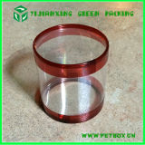 Cilindro Packaging Clear Plastic Box con Round Shape