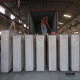 Pedra artificial de pedra de mármore veada Carrara de quartzo de Bianco