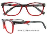 Le double italien de lunetterie d'acétate de modèle neuf colore le bâti optique de lunetterie avec du ce