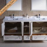 流しが付いている現代固体木の浴室用キャビネット