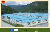 Casa prefabricada ligera eficiente de la estructura de acero
