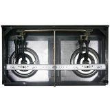 Poêle de gaz de bec du panneau deux d'acier inoxydable de qualité d'emballage de CKD (JP-GC200)