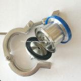 A válvula de verificação sanitária do sopro do ar do aço inoxidável coneta rapidamente o plugue