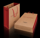 Craft bianco Paper Bag con Paper Handle con Competitive Price