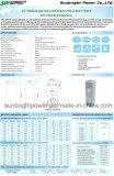 bateria profunda longa Telecom solar de Opzv do gel do ciclo 2V600ah