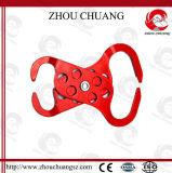 Hasp en acier de double extrémité élevée utile avec le cadenas de sûreté