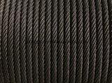 Cuerda de alambre de acero del elevador de la alta calidad 8*19s+FC 13m m